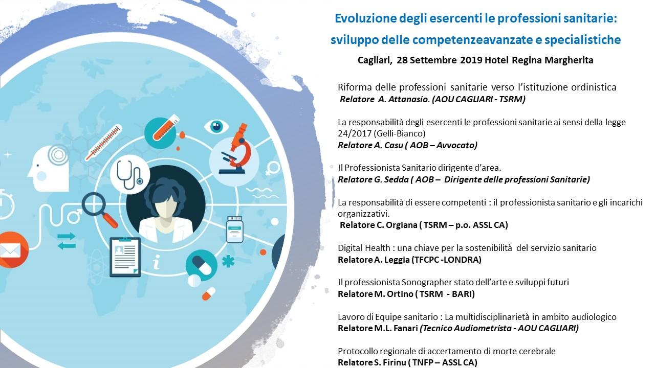 I° Evento ECM Ordine TSRM-PSTRP Cagliari-Oristano